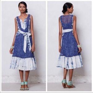 Meadow Rue Shibori Tie Dye Midi Dress